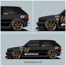JDM inspired VW Golf MK2