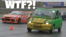 Nissan R34 vs Fiat Multipla